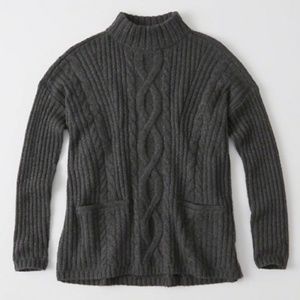 High Neck Chunky Knit Sweater